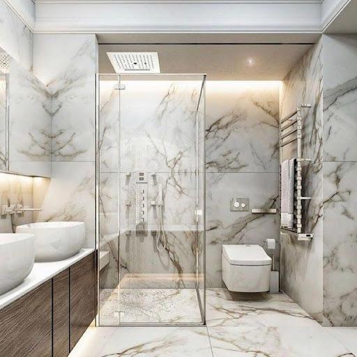 Chọn nội thất cho phòng tắm nhỏ